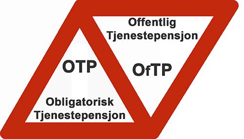 OPPMERKSOM skilt DOBBEL OTP og OfTP 500x286