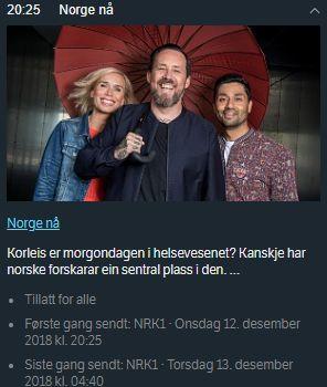 20181212 NRK Norge naa vignett