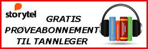 Banner storytel gratis proveabonnement 300x100