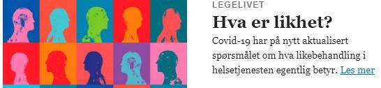Hva er likhet - corona Legetidsskriftet